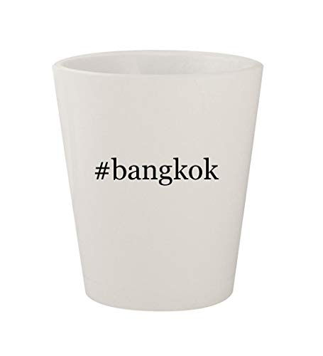 #bangkok - Ceramic White Hashtag 1.5oz Shot Glass