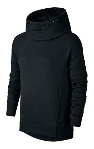 bb8deccbb4 Amazon.com  NIKE Women s Tech Fleece Pullover Hoodie Black Sz XL ...