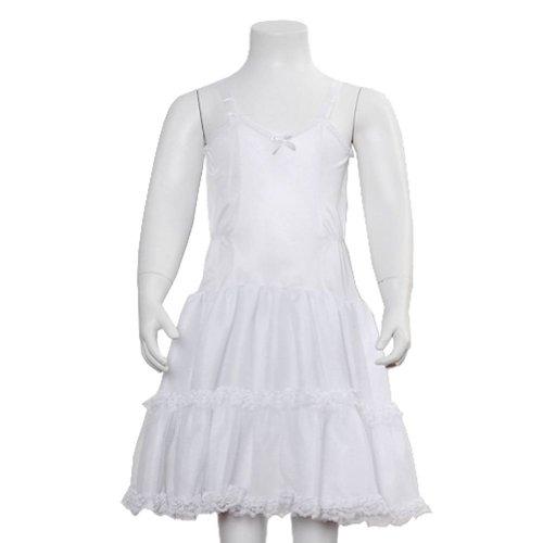 Laura Dare Girls White Undergarment Bouffant Full Slip Adjustable Straps Size ()