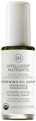 Intelligent Nutrients Travel Size USDA Certified Organic Renewing Oil Serum - Facial Serum for Redness and Oily Skin, Good for All Skin Types (0.8 oz)