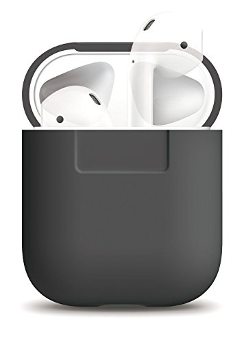 Silicone Shock Proof Protective Case Sleeve Skin Cover with a Box for AirPods Air Pods Wireless Headphone Charging Box (Earl Gray)