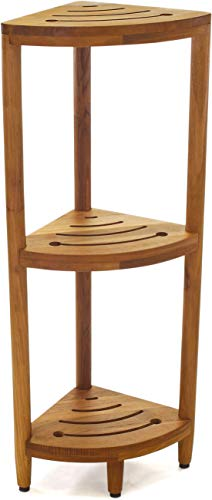 AquaTeak The Original Kai Corner Teak Bath Shelf from AquaTeak