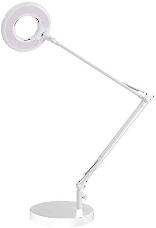 Flexo Led BRESSLO LUPA articulado, blanco, Blanco neutro, Regulable. Lámpara Escritorio, Lámpara de Mesa Regulable Articulado Flexo Escritorio para Hogar,Oficina,Dormitorio,Blanca