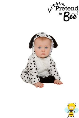 Baby Boys or Girls Kids Dalmatian Dalmation Fancy Dress Halloween Onesie Costume for Babies or Toddlers 12-18 Months by Pretend to (Dalmatian Halloween Costume For Baby)