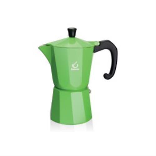 Forever KG120137 Super Colour 3 Cup Espresso Pot, Green Gilberts