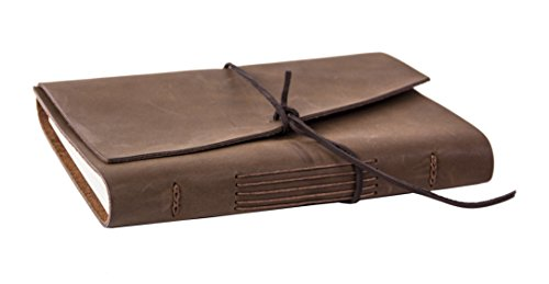 Red Co Classic Soft Genuine Leather Journal with Stitching Detail, 5