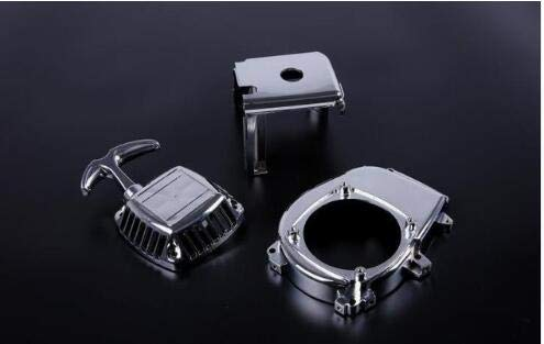 Part & Accessories Chrome engine kit(pull starter+cylinder cover+side cover+screws) for 1/5 scale HPI Rovan Baja 5b of 23cc,26cc, 29cc,30.5cc parts - (Color: 1 set)