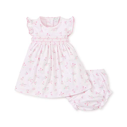 - Kissy Kissy Baby-Girls Infant Summer Cheer Pink Print Dress with Diaper Cover-Pink-9 Months