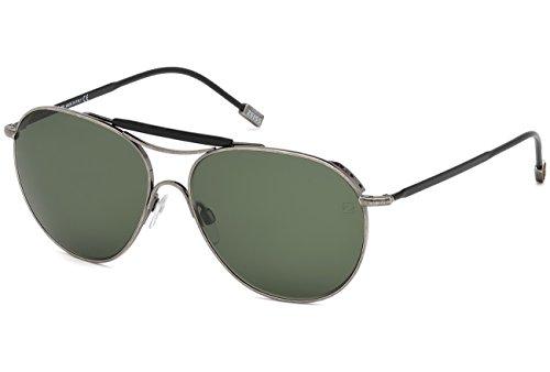 Sunglasses Zegna Couture ZC 0021 13N matte dark - Zegna Couture