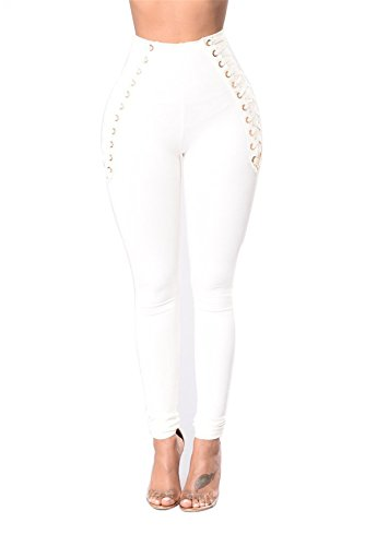 Skinny Pantalon Solide Crayon Femmes Haute Les Blanc Taille Taille Stretch Tenxin Legging Jeans Bodycon Denim Haute fYvBxB4
