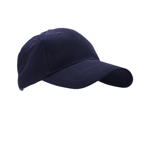 Anvil Unisex Brushed Twill Baseball Cap / Headwear (One Size) (Navy)