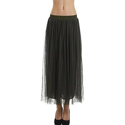 [Shop Lev] Women Straight Bottom Tutu Tulle Ballet Skirt with Elastic Waistband
