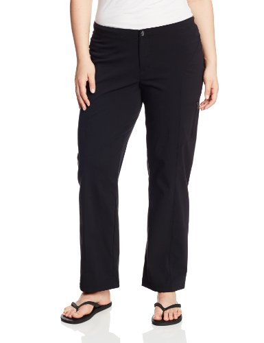 Trousers Leg Pocket Straight - Columbia Women's Just Right Straight Leg Pant,  Black, 20 Plus