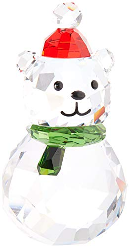 SWAROVSKI Rocking Polar Bear, red, Green and Clear Crystal (Christmas Figurines Crystal)