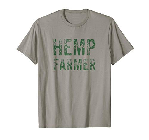 Hemp Farmer T-Shirt Farm Organic Oil Herbal Vegans Medicine