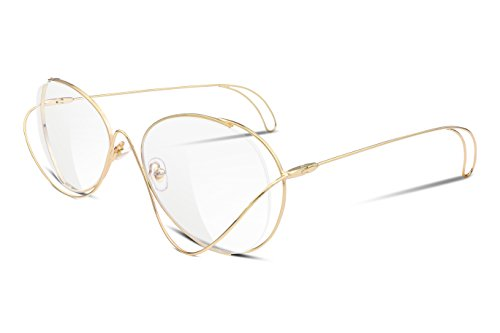 FEISEDY Cute Aviator Women Sunglasses Butterfly Curve Ultra Light Metal Frame - Aviator Sunglasses Cute