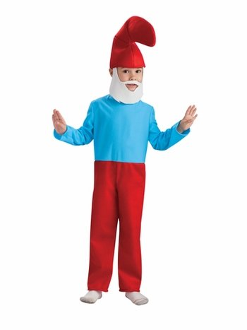 [Smurfs Movie Papa Smurf Costume,Small 4-6] (Smurf Costume 2 Year Old)