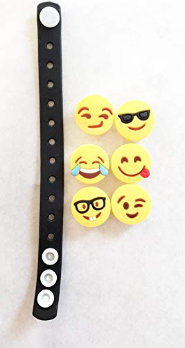 Emoji Favors Bracelets Boys Girls- 24 Pack Set of Changeable Faces Emotions, Party Supplies Decorations Toy Teen -