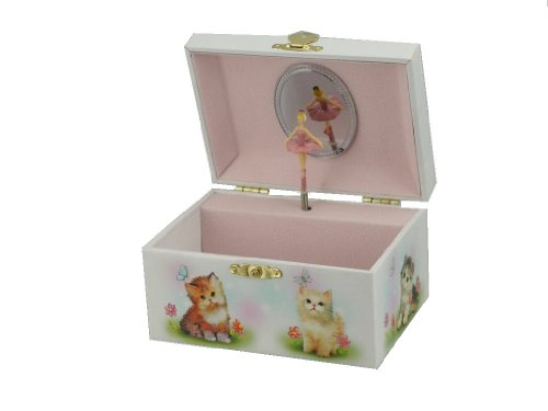 MusicBox Kingdom Jewelry Box with Cat Motive Plays The Melody