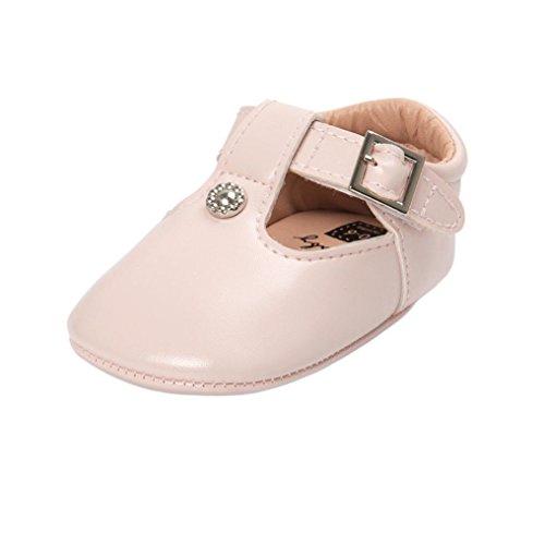 ❆Huhu833 Kinder Mode Baby Schuhe Soft Sole, Baby Kleinkind Leder Sole einzelne Schuhe beiläufige flache Schuhe (0~18 Month) Beige