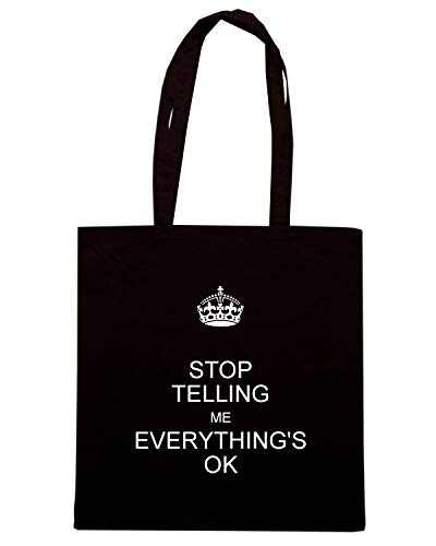 TELLING Borsa TKC1299 Speed Shirt ME EVERYTHING'S Shopper OK Nera STOP xYHAYwSqn
