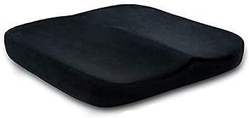 XINTONGSPP Confort Almohada Ortopédica Espuma de la Memoria del Amortiguador de Asiento de coxis y más bajo Amortiguador de Asiento para Oficina Asientos de Coche Alivio del Dolor de Espalda,A