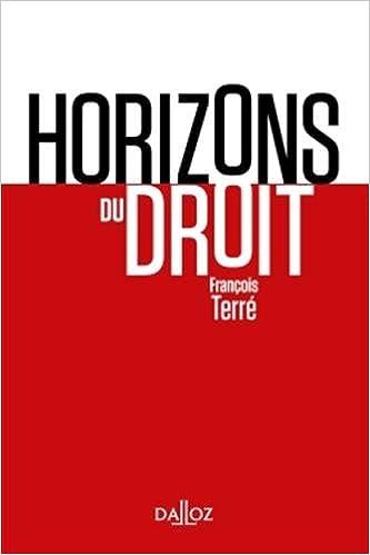 Amazon Fr Horizons Du Droit Nouveaute Francois Terre