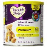 Parent's Choice Infant Formula - Premium 0 to 12 Months for Newborns & Infants - Prebiotics/dha & ARA - Net Wt. 12.5 Oz (354 G) - 2 Ea