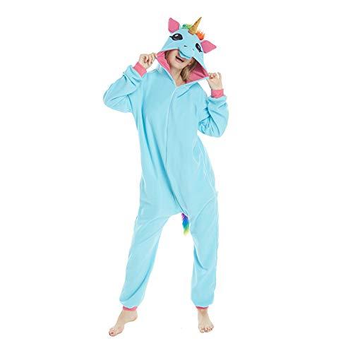 Winter Pajamas Cosplay Costume Animal Jumpsuit Unisex Pajamas(Blue