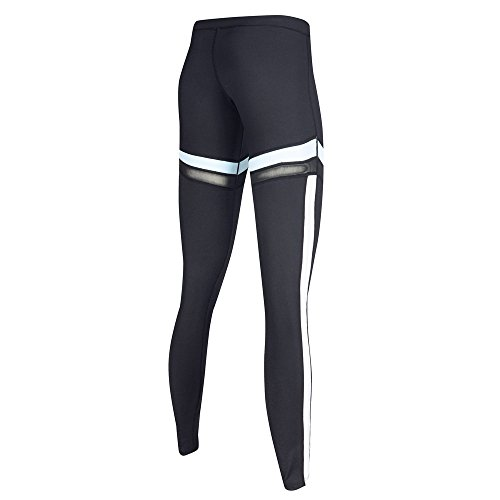 Sports Nero 02 Vita Leggings Yoga Strechy Pantaloni Wicking Womens Corsa Fitness Da Alta HxqdSnHP