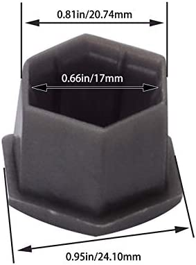 Color : Gray ZFX-LTMAO 20pcs Car Wheel Auto Hub Screw Cover Wheel Nut Bolt Cover Cap For Peugeot 207 3008 301 307 308 2008 408 508 207 407