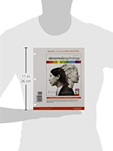 Abnormal Psychology, Books A La Carte Edition (16th Edition)