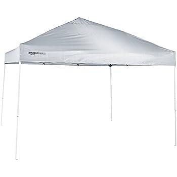 amazonbasics pop up canopy tent 10 39 x 10 39 white garden outdoor. Black Bedroom Furniture Sets. Home Design Ideas
