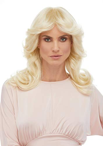 Charlie's Angels 70s Wig Color Blonde - Sepia Costume Wigs Cheryl Ladd Long Wavy Mid Back Length 70s Woman Ladies Dectectives