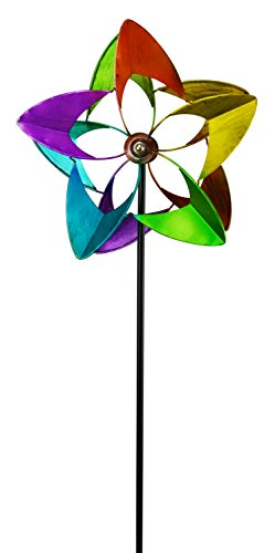 Stake Rainbow - Red Carpet Studios 32607 Wind Spinner and Stake Rainbow Flower