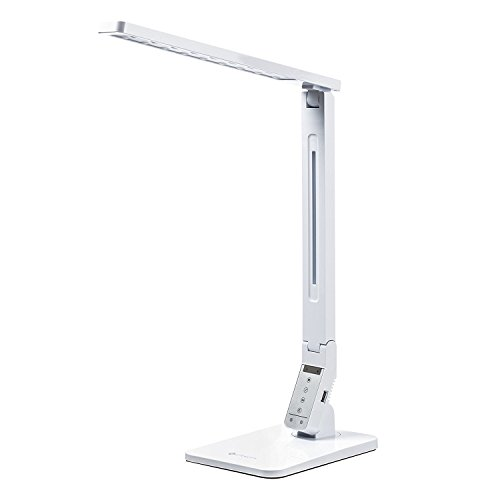 Etekcity LED Desk Lamp, Dimmable LED Lamp with 5V/1.5A USB Charging Port, 4 Lighting Mode with 5 Brightness Levels, Touch Control Table Lamp, Memory Function, 11W