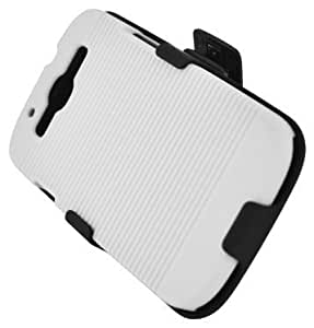 Bloutina Aimo Wireless SAMI9300PCBEC018 Shell Holster Combo Protective Case for Samsung Galaxy S3 i9300 with Kickstand...