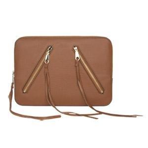 Incipio Rebecca Minkoff Moto 13 Sleeve - Almond Pebble Leather from Incipio