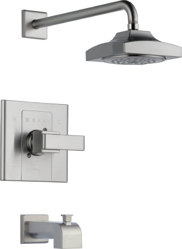 Delta Faucet T14486-SS Arzo Monitor 14 Series Tub and Shower Trim, Stainless