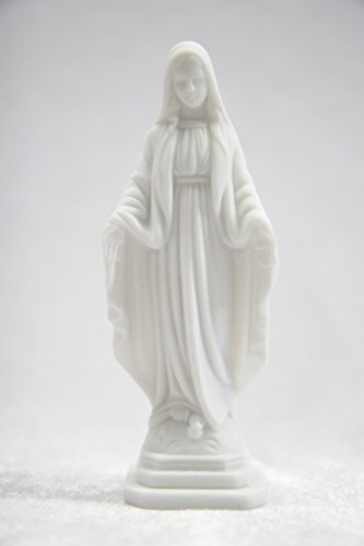 Our Lady of Grace Virgin Mary Madonna Miraculous Italian Catholic Religious Statue Sculpture Figurine Vittoria Collection Made in Italy 4 1/4 Inch Tall (Italian Religious Statues)