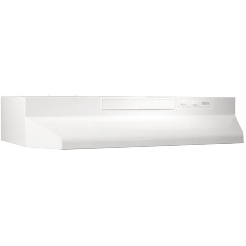 Two-Speed Four-Way Convertible Range Hood, 42-Inch, White on White - Broan F404211