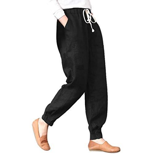 Cintura Cintura de Fitness Alta de Pantalones sólida Leggings Cintura Media Impreso Yoga Vaqueros ASHOP de Estilo Cordón de Pantalones Ocio Boho Jeans Negro Pantalón Mujer x1nBEE