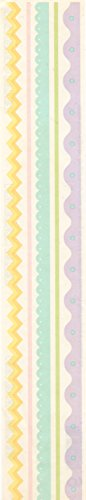 Pastel Vellum - Pastel Vellum Active Edges Borders Scrapbook Stickers (29280)