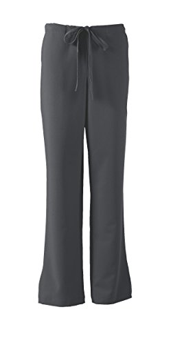 ave Scrubs Melrose ave Women's Scrub Pant, Flattering Bootcut with Drawstring and Elastic Waist, Charcoal, Small Bootcut Scrub Pants