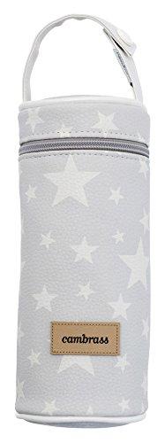 Cambrass 39474 Tasche f/ür Babyflasche Etoile grau 8.5 x 8.5 x 22 cm