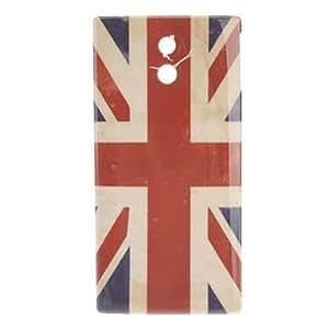 Retro UK Flag Pattern Hard Case for Sony Xperia P LT22i