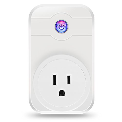 Smart Plug, ELEGIANT 2.4ghz Wifi Smart Plug work with Alexa Wireless Remote Control Timer Turn On/Off Electrics for Household Appliances by Cellphone iPhone IOS/Android App Anywhere Anytime by ELEGIANT