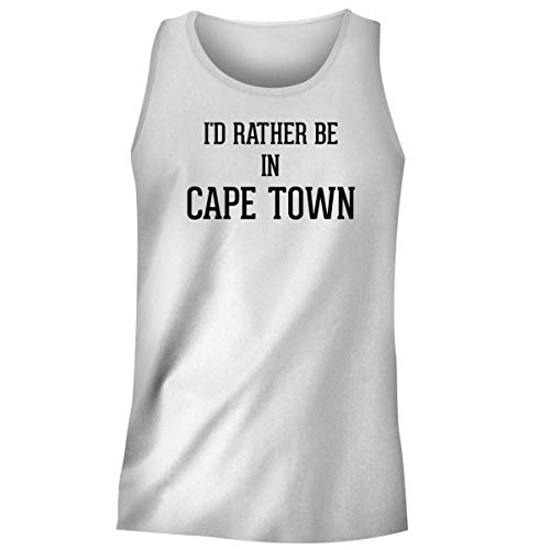 University Of Cape Town South Africa - One Legging it Around I'd Rather Be in Cape Town - Men's Funny Soft Adult Tank Top, White, X-Large