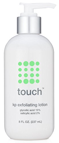 Touch Keratosis Pilaris Treatment 15% Glycolic Acid & 2% Salicylic Acid Exfoliating Lotion - Moisturizing Cream Smooths Bumps Away And Gets Rid Of Redness, 8 Ounce