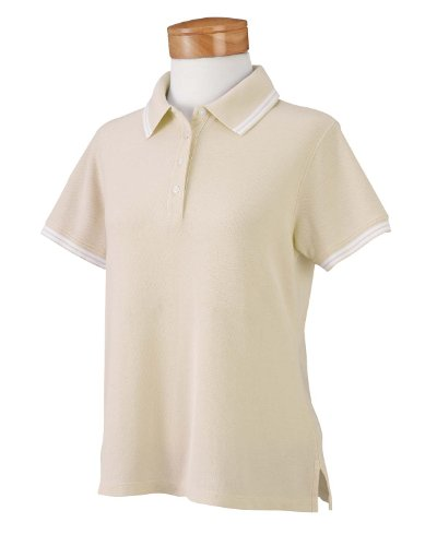 Chestnut Hill Women's Tipped Performance Plus Pique Polo Shirt
